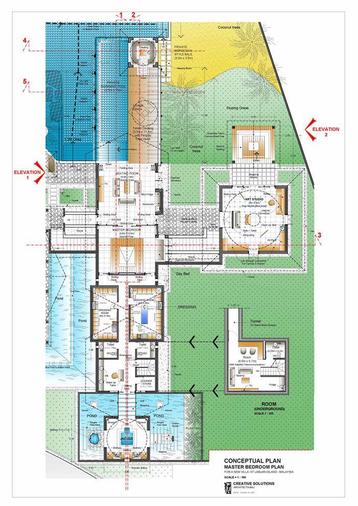 Labuan Island On Malaysian Island Professional Architectur Architecture Design Bali Home Design Inter Bali Architecture Master Bedroom Plans Villa Plan