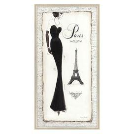 Indulge in jetsetting style with this chic print, perfect for bringing a touch of Parisian glamour to your living room, powder room, or master suite. jossandmain.com