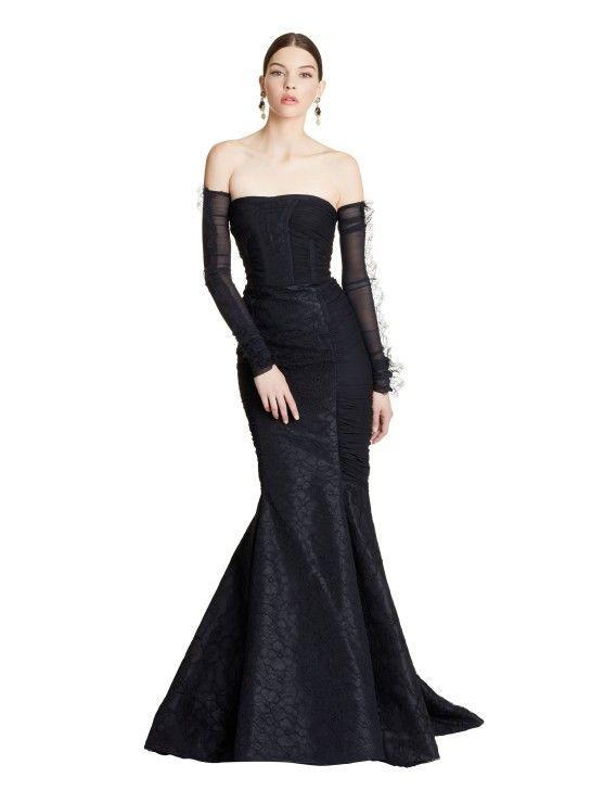 Chiffon & Lace Mermaid Gown