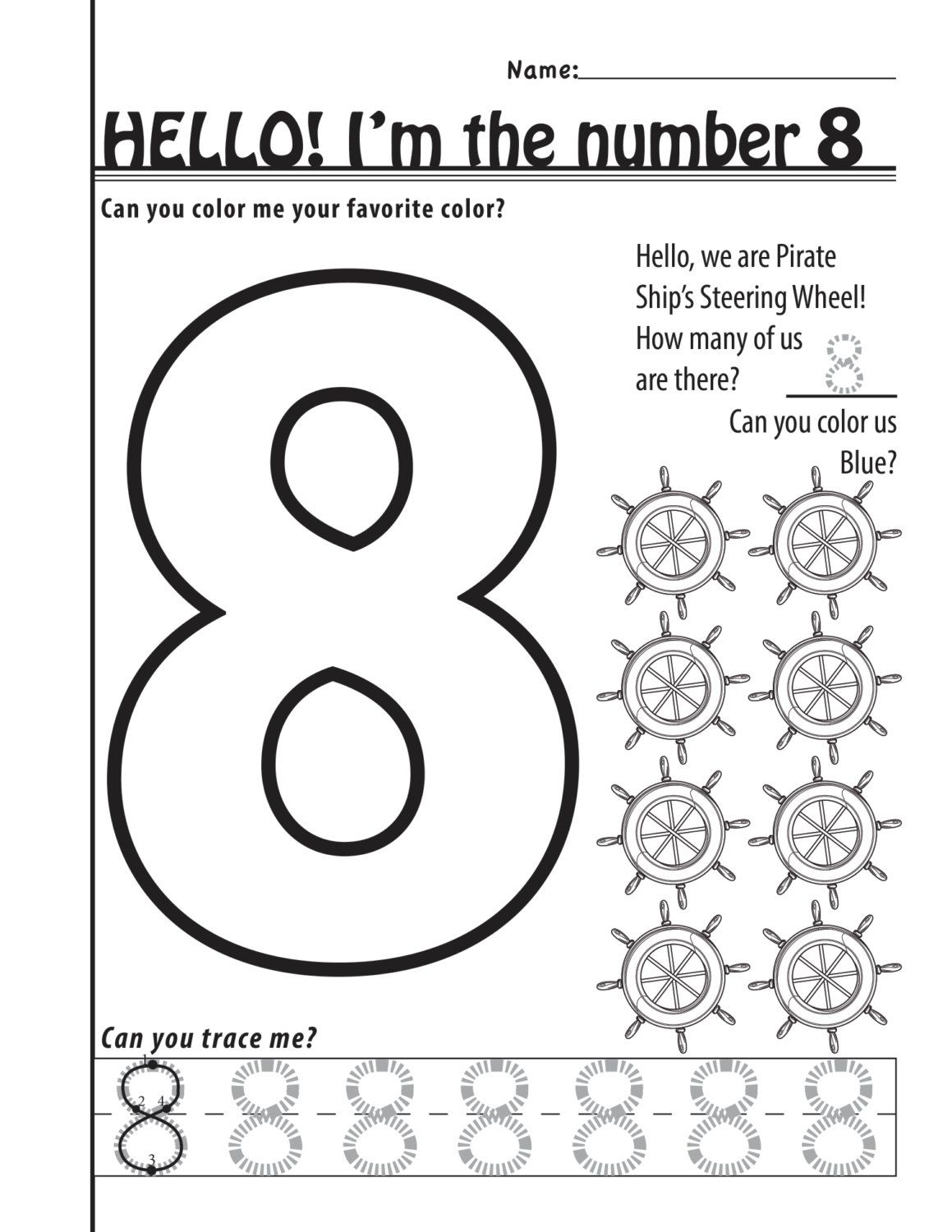 Number 8 Worksheets 11 Pages By Designsbylizperkins On Etsy Etsy Math Work Color Me [ 1500 x 1159 Pixel ]