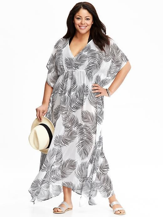 e0cbd5cacd6 Plus Size Chiffon Maxi Swim Cover-Up | Plus Size Fashion | Chiffon ...