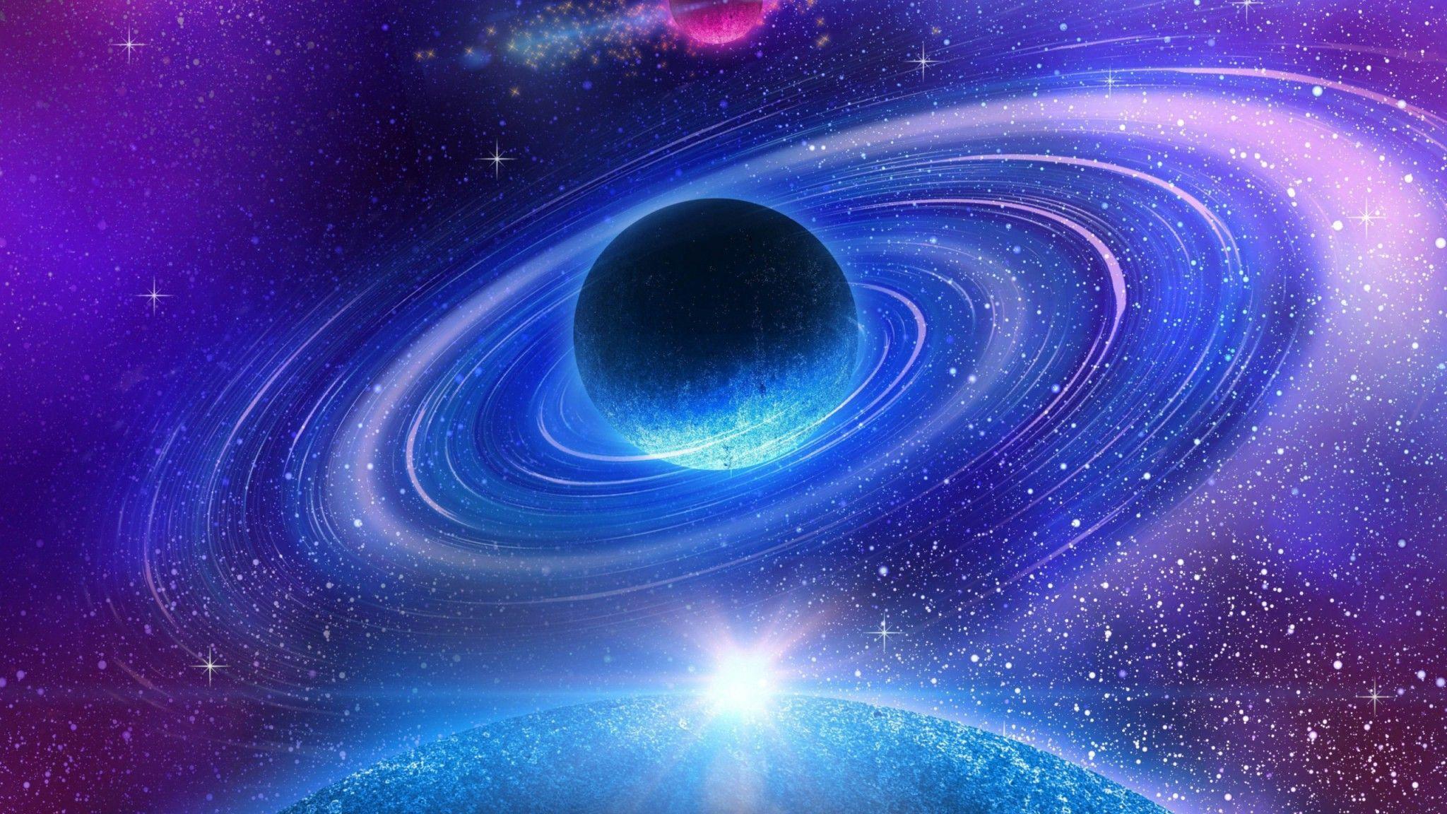 Télécharger 2048x1152 Espace étoile Galaxie Nébuleuse
