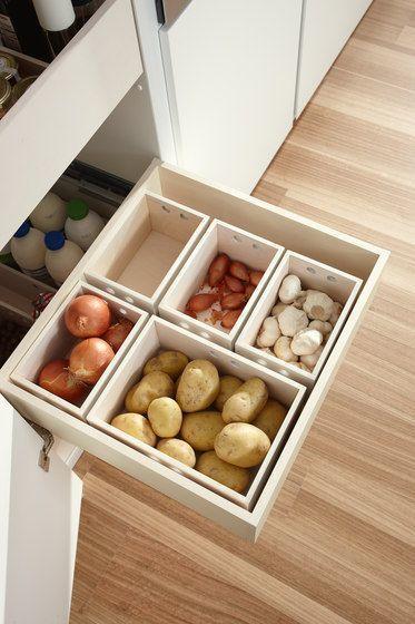 Vous pouvez ainsi créer beaucoup despace de stockage dans la plus petite cuisine