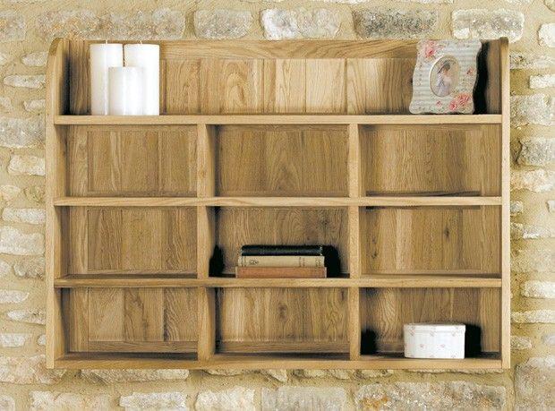 Henley Oak Reversible Wall Rack - http://www.solidoakfurniture.co.uk/ranges/henley-oak/henley-oak-reversible-wall-rack.html