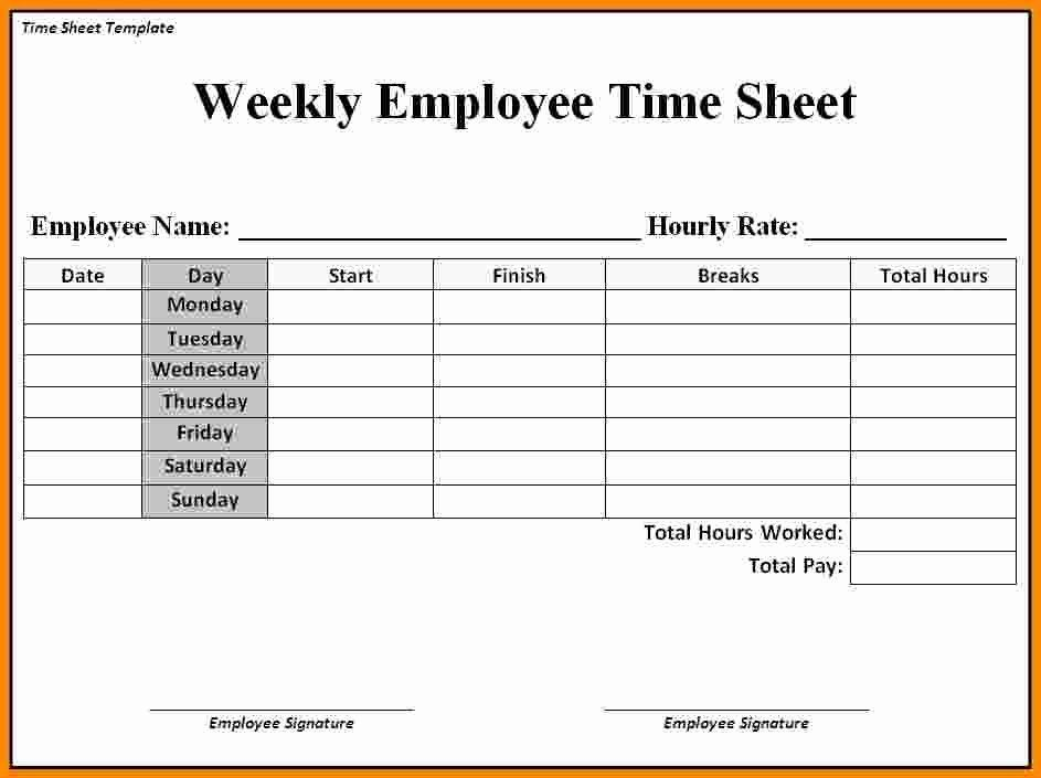 50 Lovely Bi Weekly Time Card Template In 2020 Templates