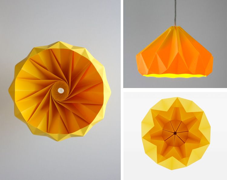 tutorial origami lampshade