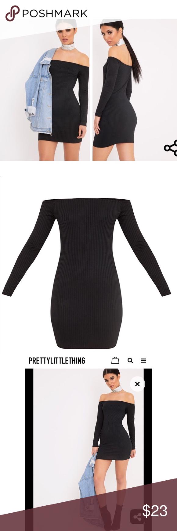 Black Dress Long sleeve dress. Brand New. Never worn. Exactly like the picture Dresses Mini