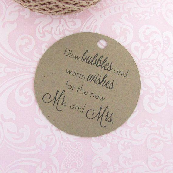 Wedding Bubble Tags 30 Tag Kraft By Dazzlingdaisiesco
