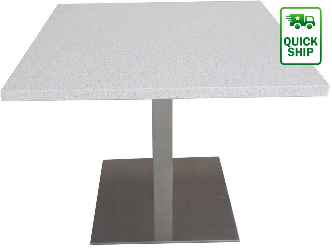 These Square Quartz Table Tops Are Durable And Gorgeous And Come In A Smooth Natural Stone Table Top Restaurant Table Tops Dining Room Layout Restaurant Tables