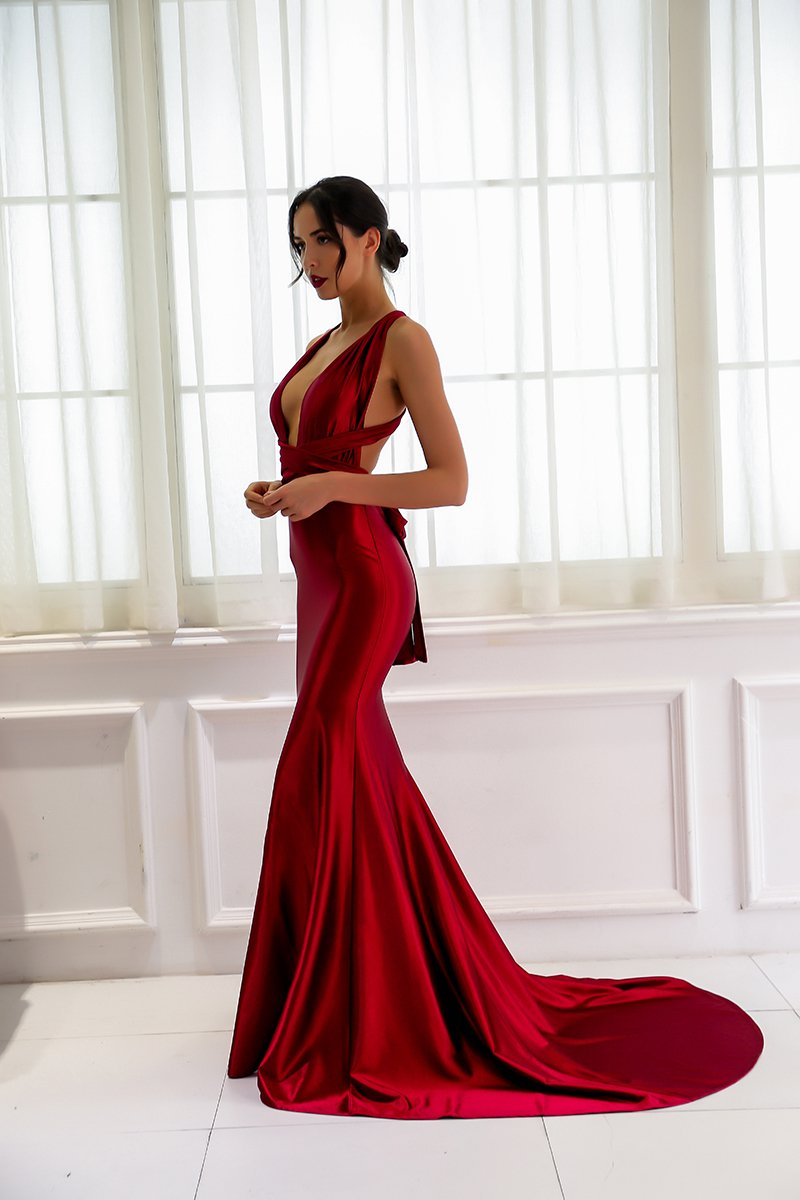9a0b642fd27 Olivia Backless Satin Gown