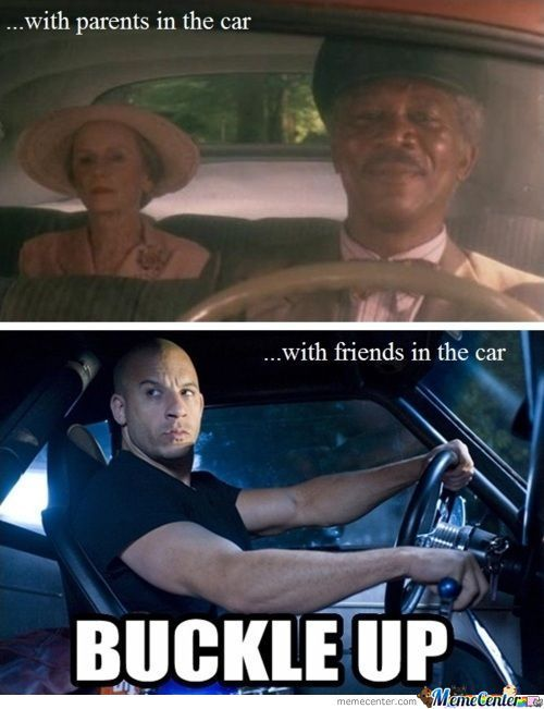 Driving With Parents Vs Friends Humor Celebrities Funny Funny Pictures