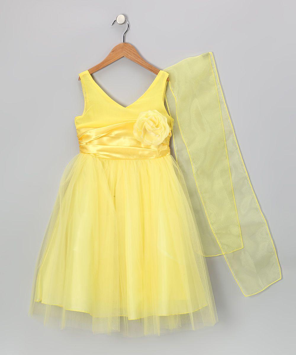 Yellow Tulle Flower Dress Toddler Girls Potential Flower Girl