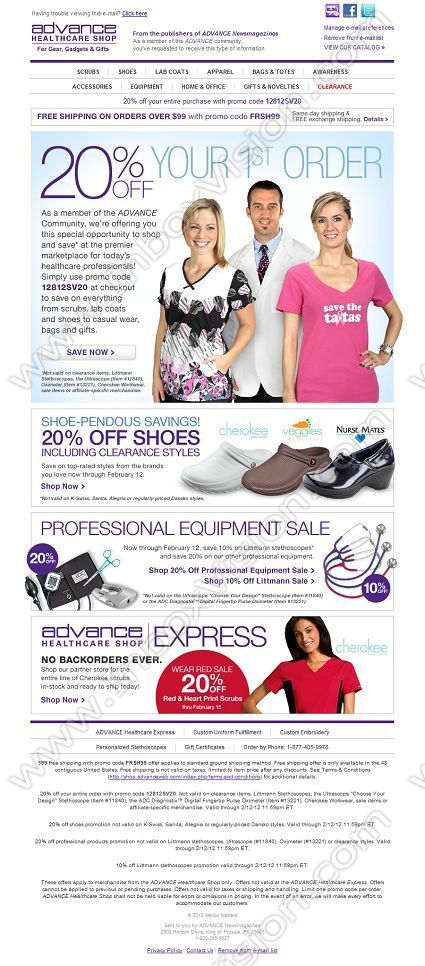 company advance healthcare shop inc subject shop advance
