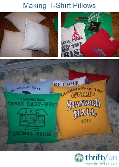 deed079edd152 This is a guide about making t-shirt pillows. Favorite t-shirts often hold  memories we would like to keep. So rather than throw them away