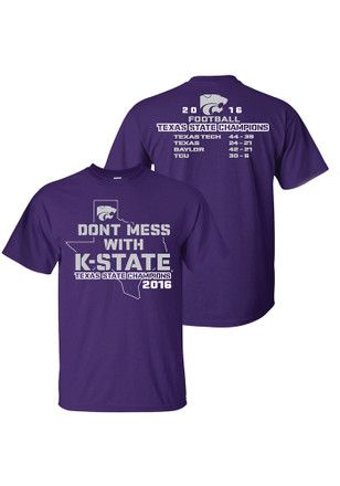 f9f173e15a12 K-State Wildcats Mens Purple Texas State Champions Tee | Aggieville ...