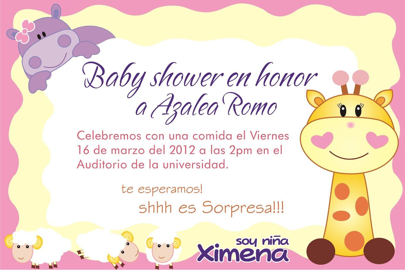 Invitaciones Baby Shower Niño ~ Invitaciones para baby shower de ni�a youtube hd