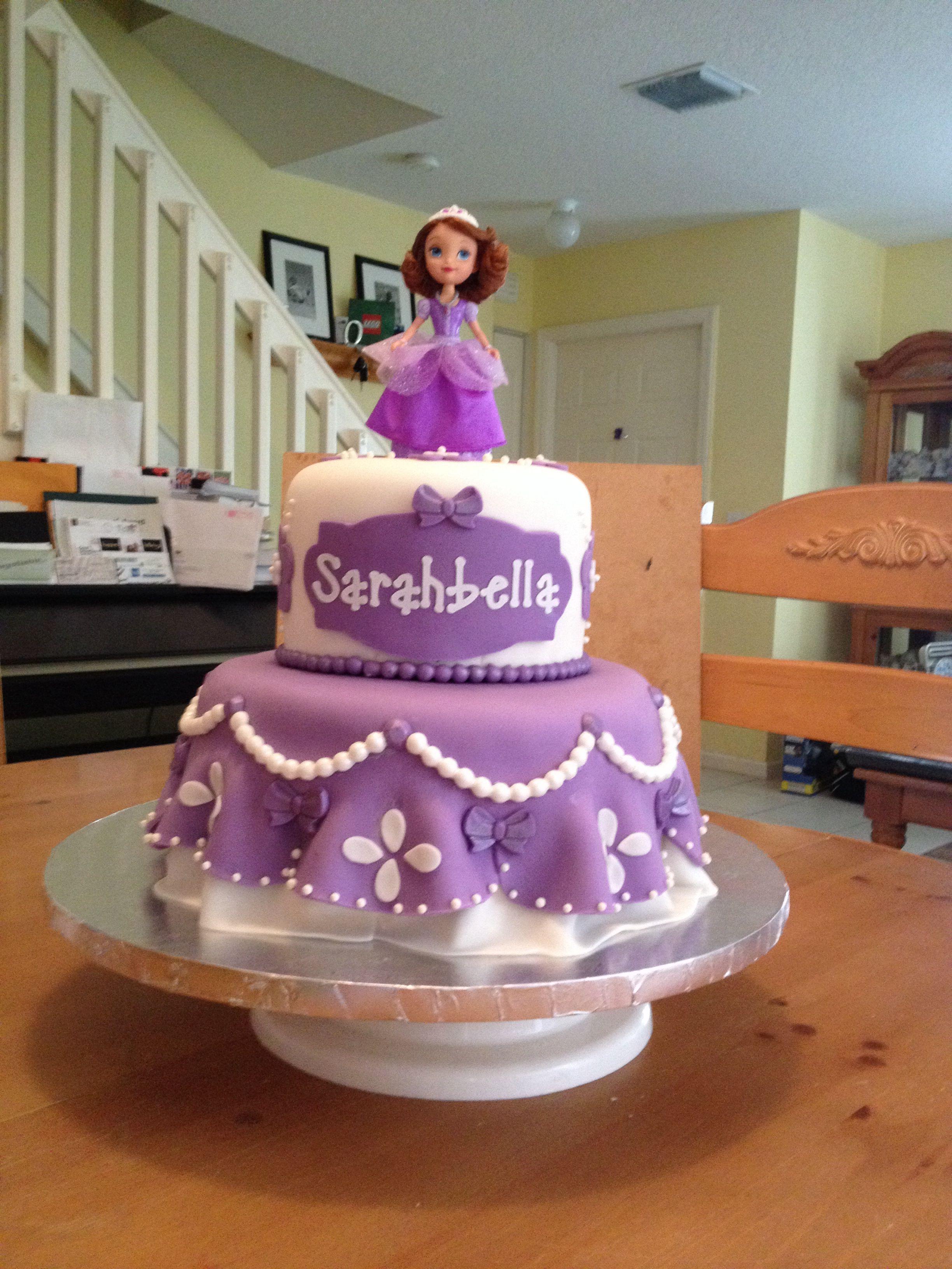 Princess Sofia cake My creations Pinterest Princess sofia cake