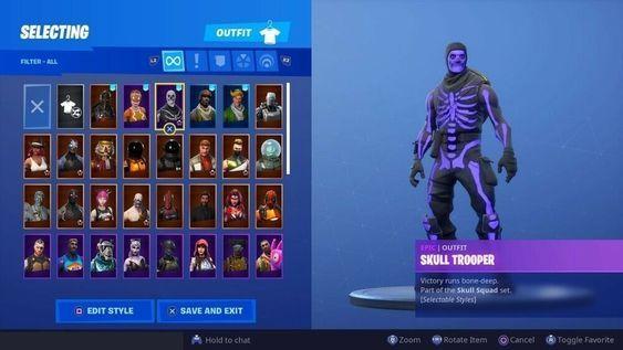 OG Purple Skull Trooper Fortnite Accont (RARE) #fortnite # ...