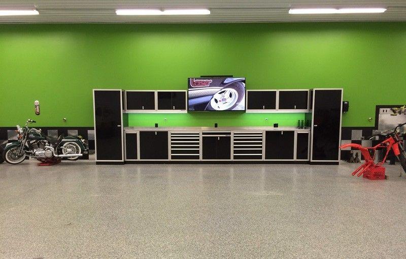 Moduline Black Aluminum Modular Garage U0026 Shop Cabinets