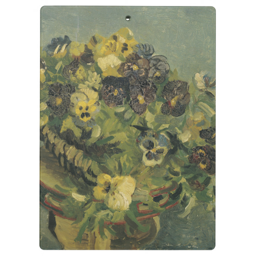 Basket of Pansies on a Small Table by Van Gogh Clipboard