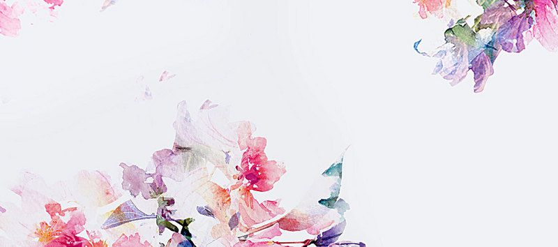Taobao Watercolor Flowers Background Watercolor Flower