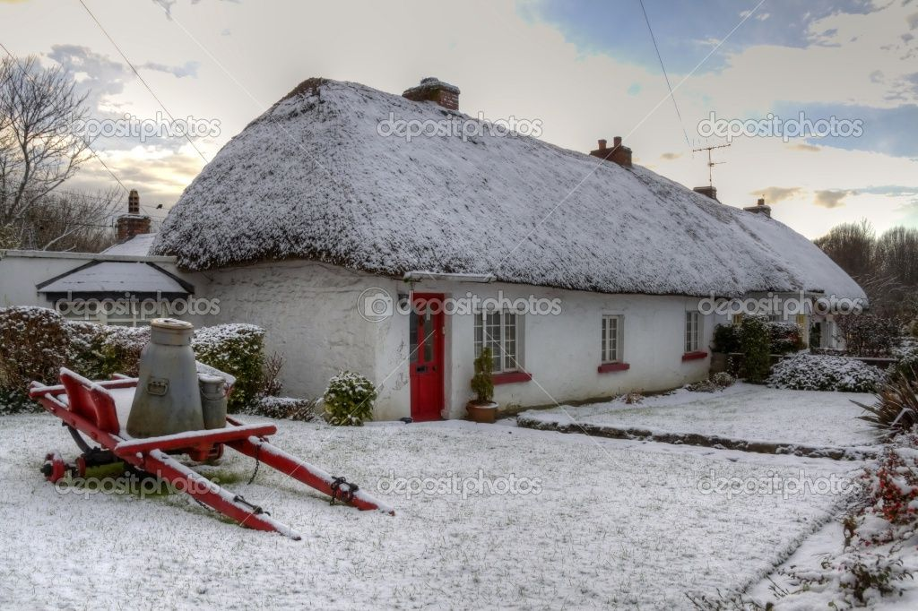 Ireland Cottage In Winter Winter In Ireland Pinterest