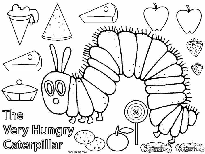 Very Hungry Caterpillar Coloring Pages Coloring Pages Hungry