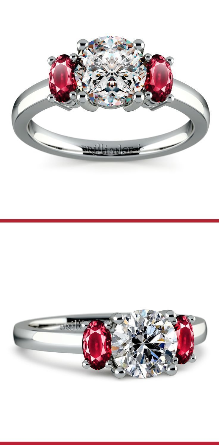 Oval ruby gemstone engagement ring in platinum luxurious fashion