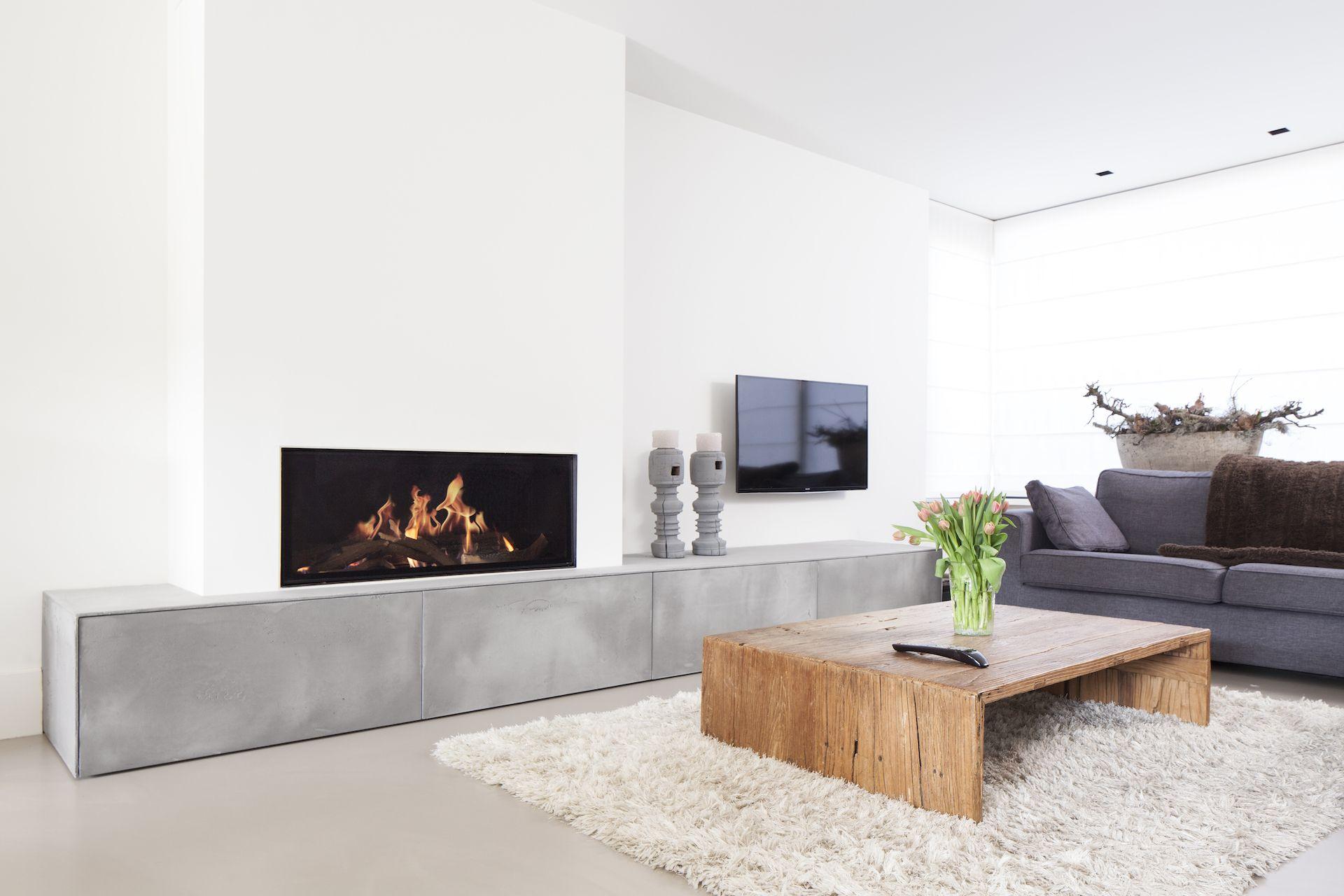 Moderne openhaard luxe wooninspiratie hoog sign new home