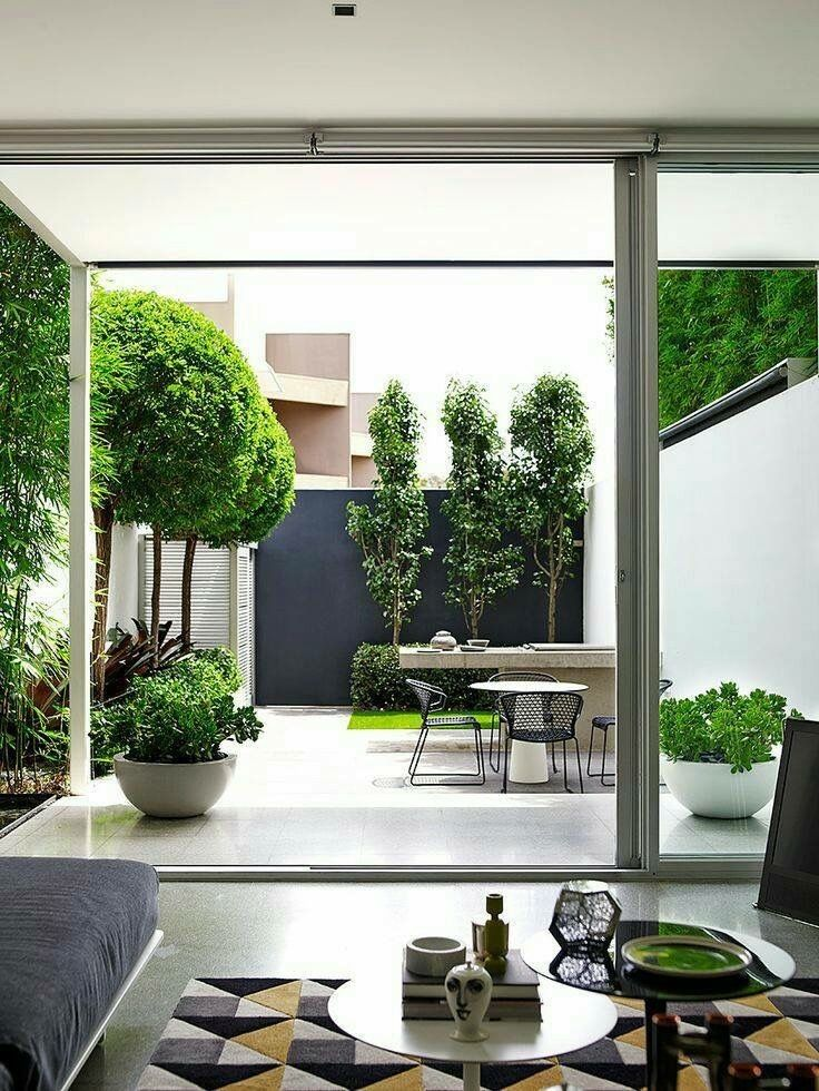 Beautiful clean contemporary back garden also living room rh pinterest