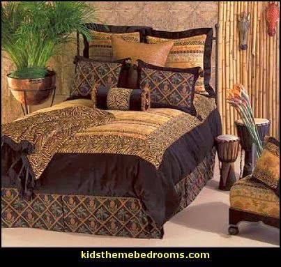 African Themed Bedding | African safari theme bedroom decorating ideas and decor click here & African Themed Bedding | African safari theme bedroom decorating ...