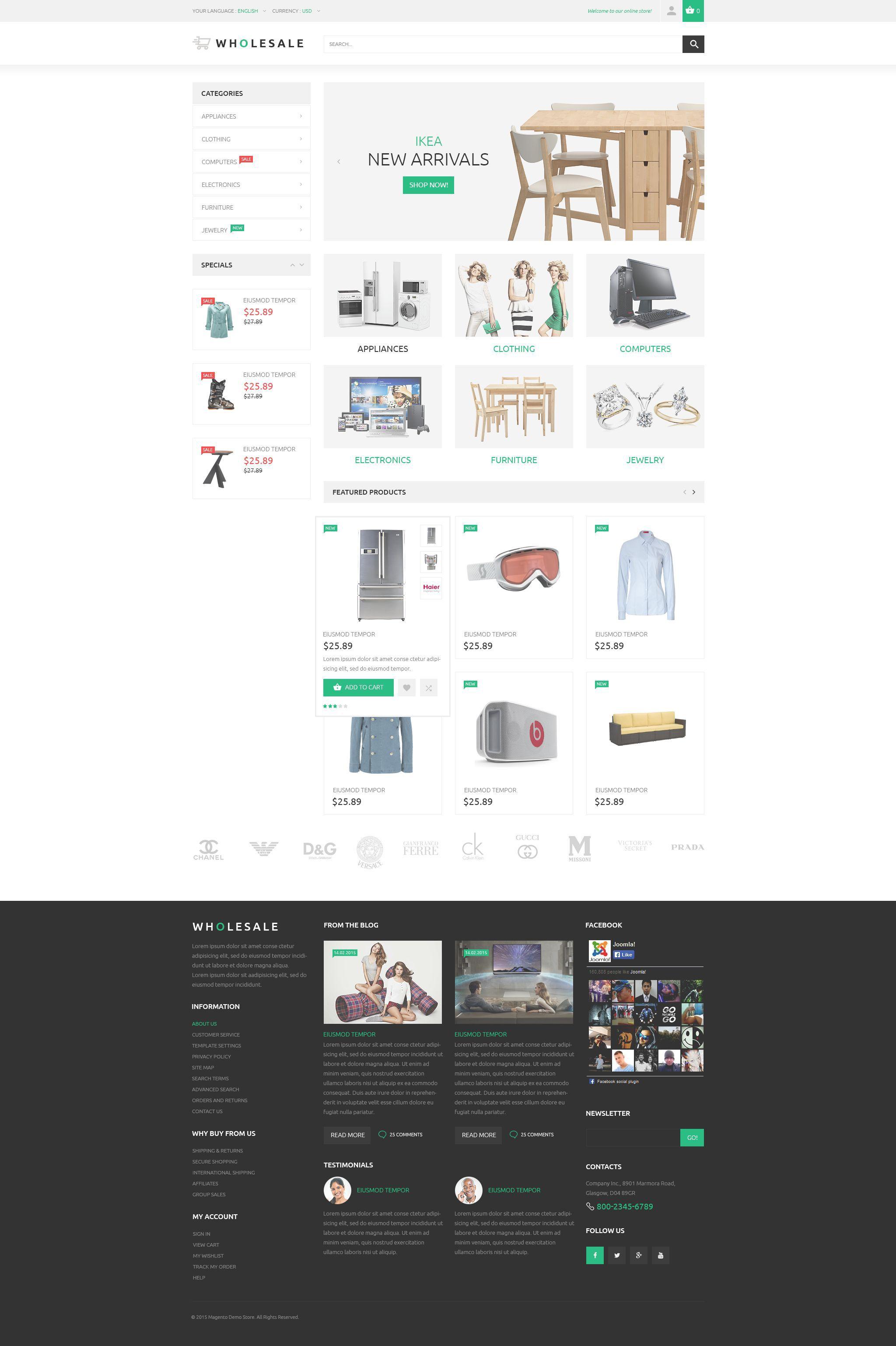 Housewares Store Magento Theme Magento Themes Prestashop Themes Prestashop Templates