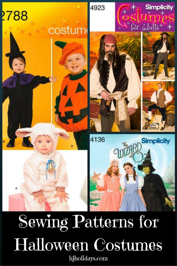 Sewing Patterns for Halloween Costumes | Halloween costumes ...