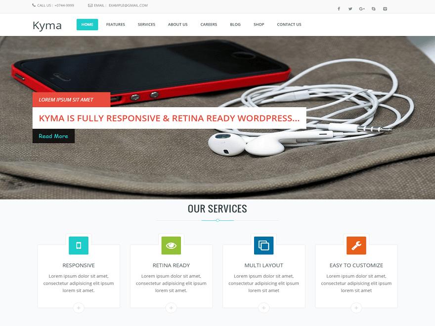 Kyma — Free WordPress Themes | Website Design | Pinterest