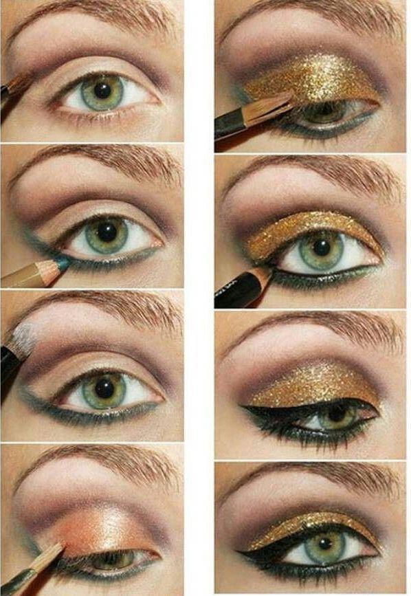 gold makeup tutorial green eye makeup tutorials