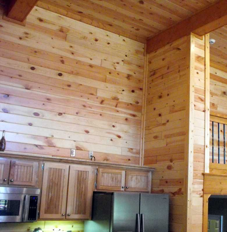 interior wood paneling Knotty Pine Wall Paneling New Home