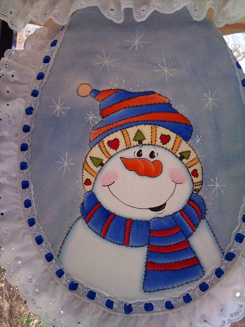 Juego de ba o pintado en tela manualidades navide as y madera country juegos de ba o juegos - Pintura en tela motivos navidenos ...