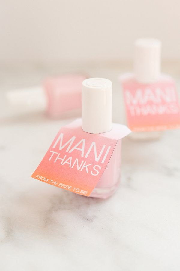 Easy Mani Thanks Nail Polish Favors