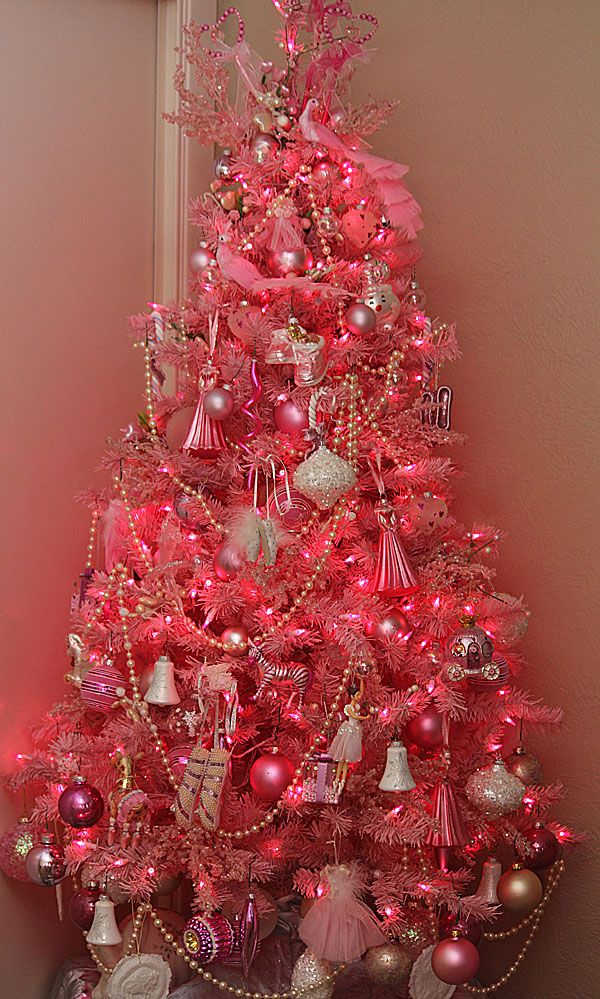Pink is my very favorite color! This tree was in my guest room that is decorated shabby chic/vintage
