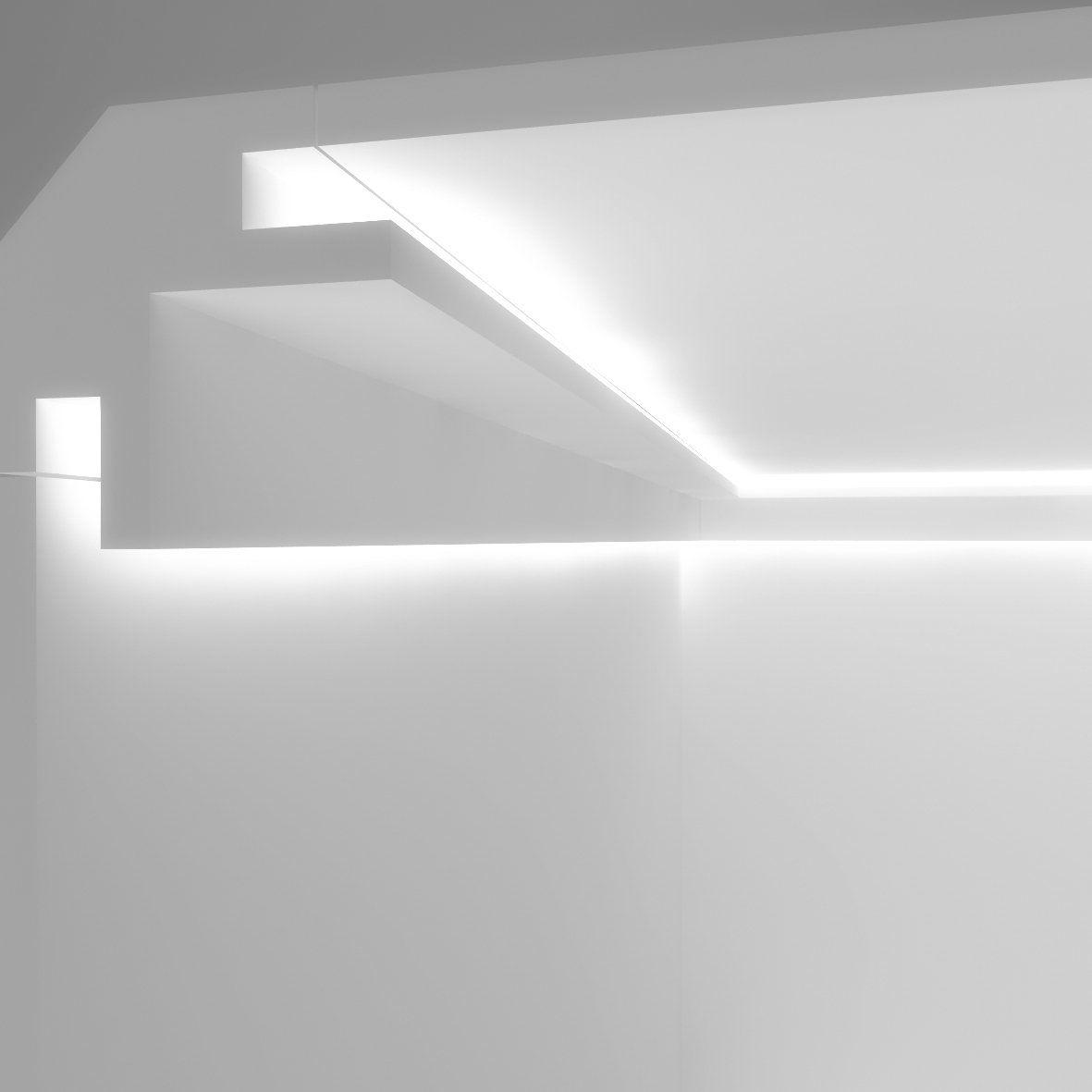 Illuminazione Led A Muro cornice per illuminazione indiretta led a parete e soffitto