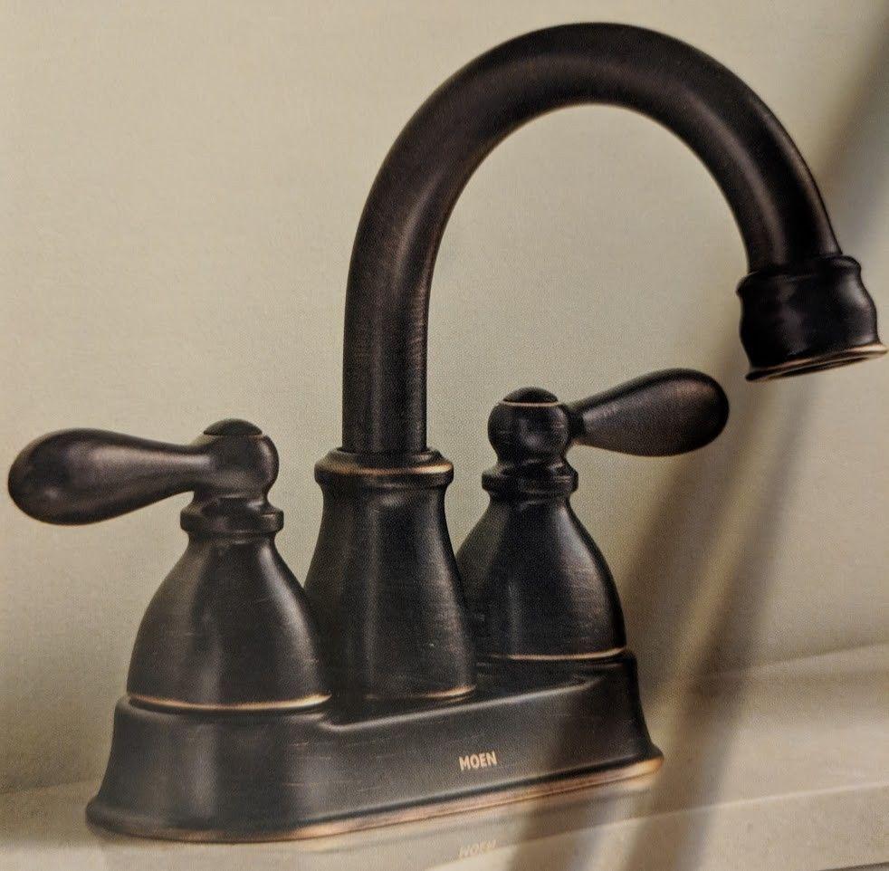 Moen Caldwell Ca84667brb Bronze Faucet Bathroom Watersense Washerless Cartridge Moen Bronze Bathroom Faucets High Arc Bathroom Faucet Water Sense [ 962 x 982 Pixel ]