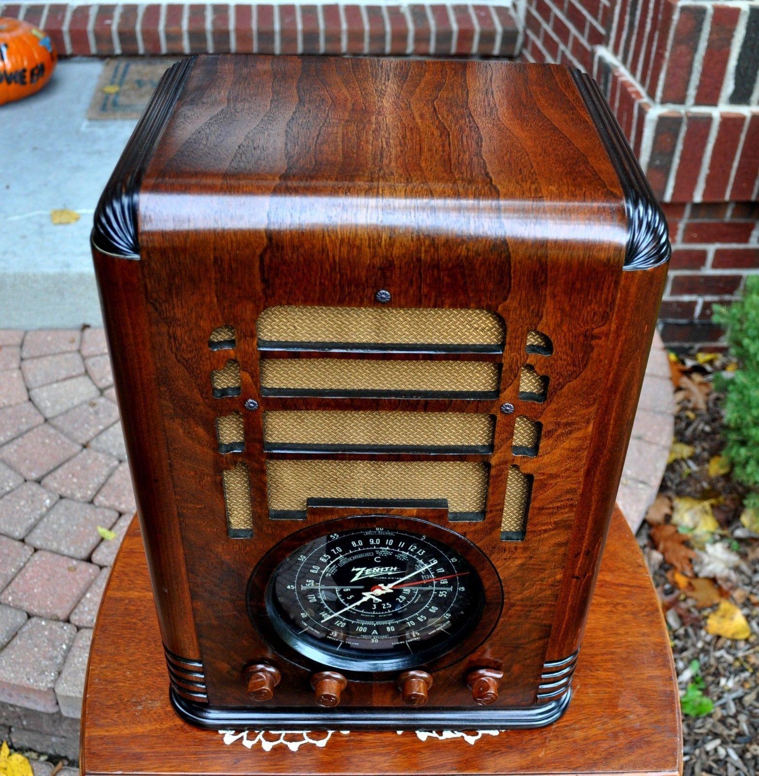 Restored Antique Vintage Zenith 5s127 Tombstone Wood Tube Radio Works Perfect Ebay Antique Radio Retro Radios Vintage Radio
