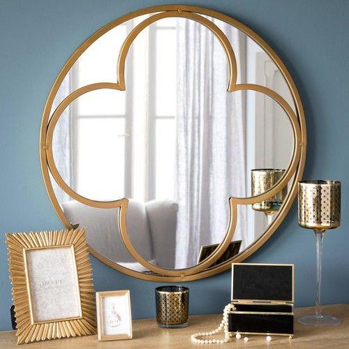 Spiegel Rund Aus Metall D 60 Cm Hamptons Ankleidezimmer Mirror