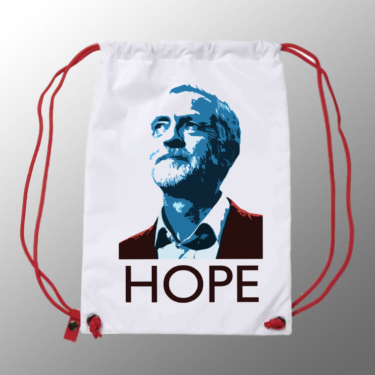 Jeremy Corbyn Hope Gym Sac   Quality Bag with Red String   Labour Party   Jeremy Corbyn   Momentum   by LeftwardTendency on Etsy