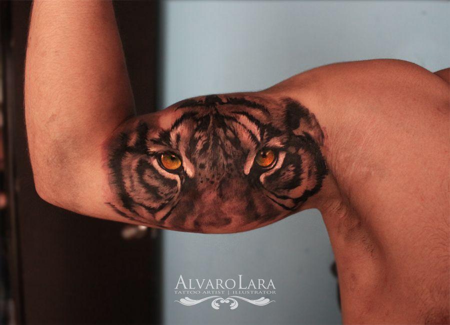 Tattoo By Alvaro Lara Tiger Eyes Tiger Eyes Tattoo Inner Bicep Tattoo Bicep Tattoo