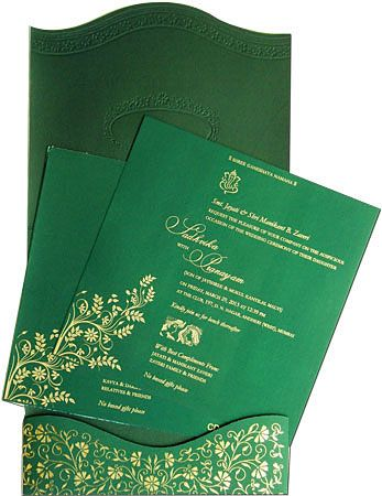 Creative Inner Of Green Color Designer Card By Http Www Theweddinginvitationcards