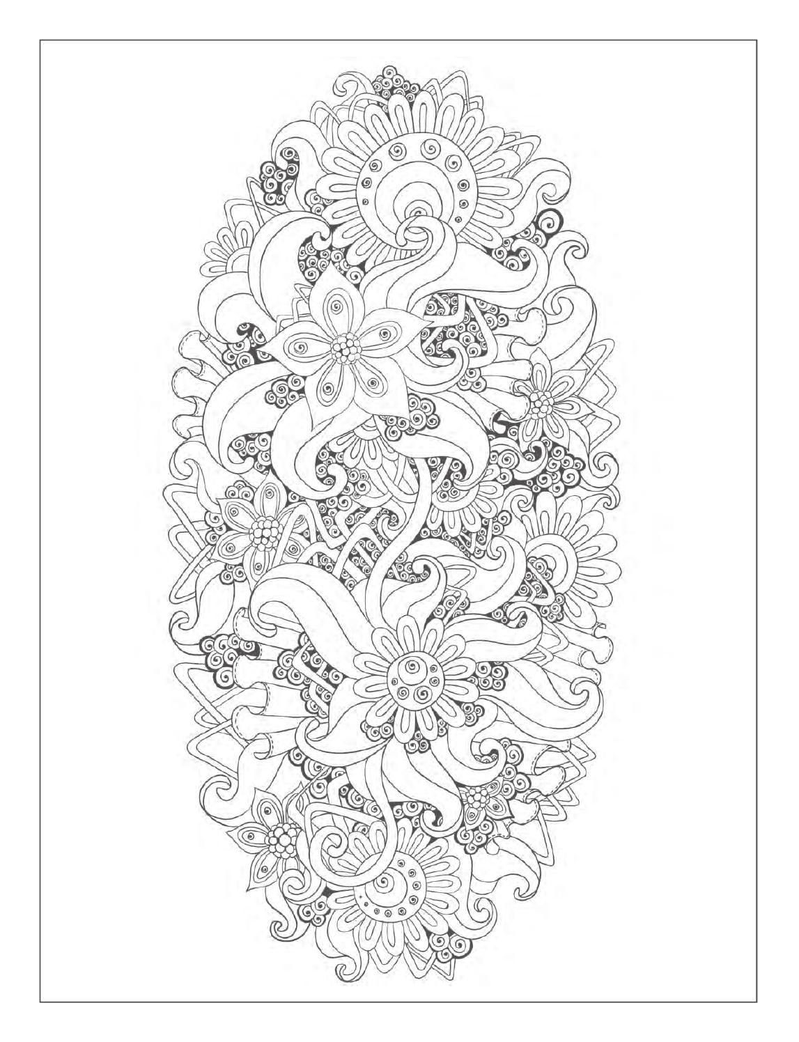 Beautiful Flowers Detailed Floral Designs Coloring Book Preview Patronen
