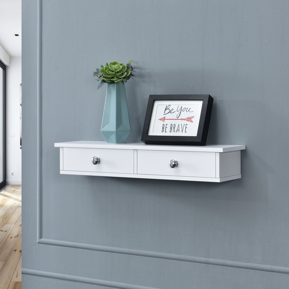 En Casa Wandregal Mit 2 Schubladen Regal Ablage Hangeregal Wand