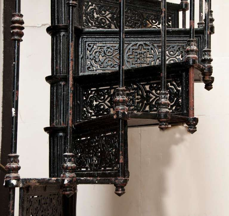 Best Antique Spiral Staircase Made Of Cast Iron 19Th Century 640 x 480
