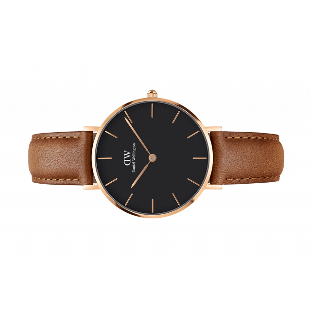b811f1704921 Womens watch - Classic Petite Durham Rose Gold 32 mm (black) - Daniel  Wellington